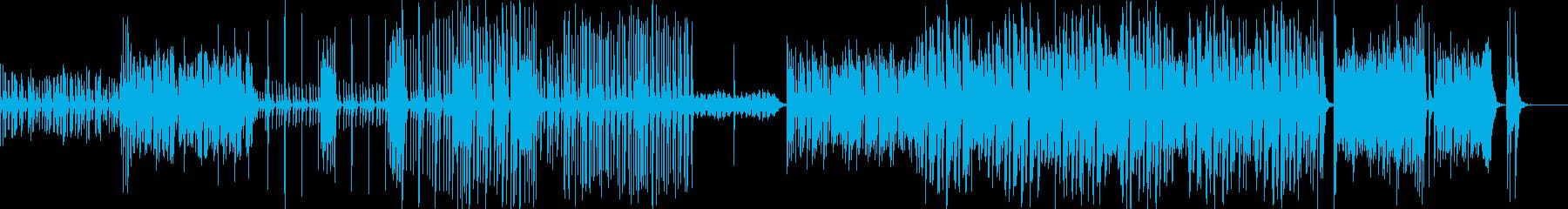 かなり速い三味線曲の再生済みの波形