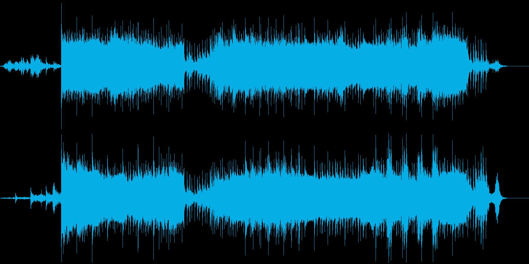 切なく寂しげな雰囲気の電子音楽の再生済みの波形