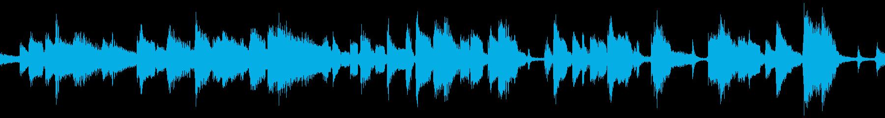 明るく落ち着きのあるギタージャズ:ループの再生済みの波形