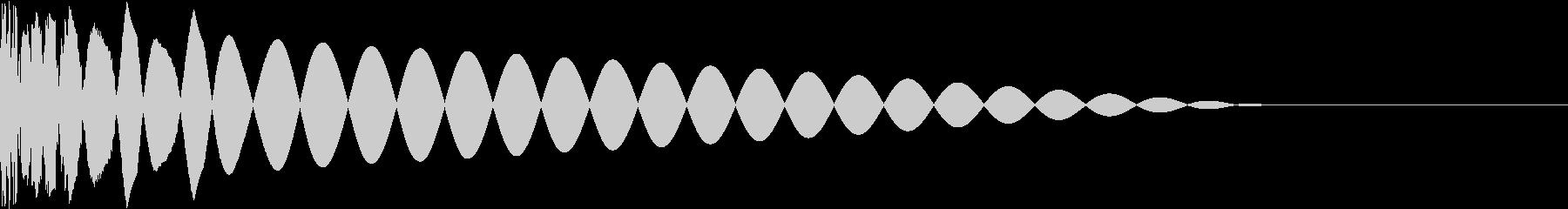 DTM Kick 77 オリジナル音源の未再生の波形