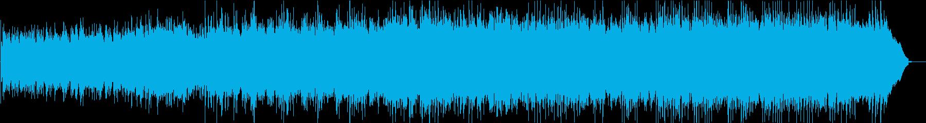 ライトミュージックで暖かい曲の再生済みの波形