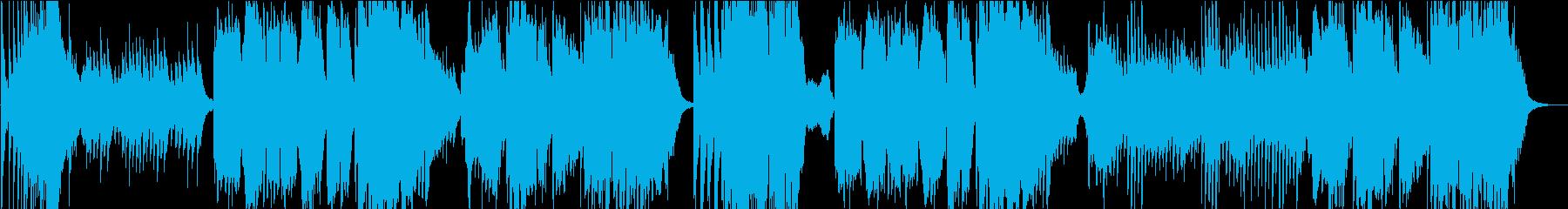 琴の伴奏に載せた尺八による和風楽曲の再生済みの波形