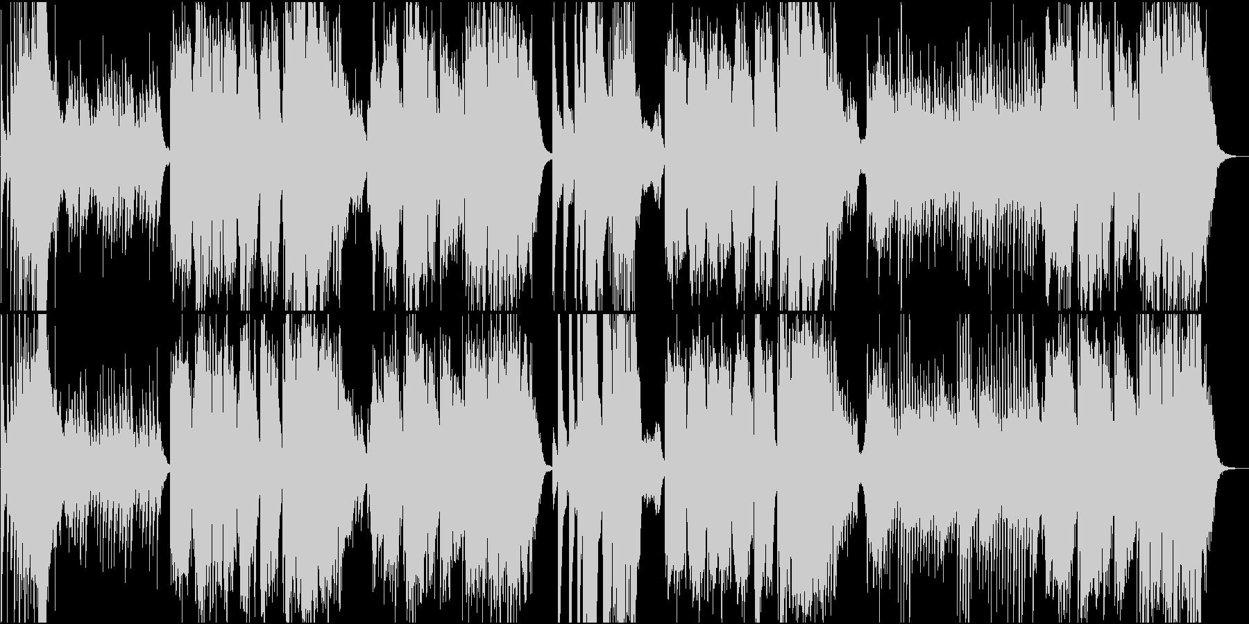 琴の伴奏に載せた尺八による和風楽曲の未再生の波形