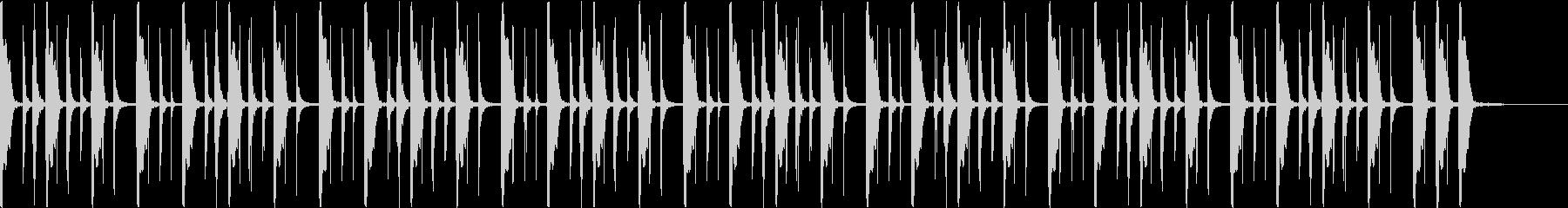 クラップをベースにしたイントロダクションの未再生の波形