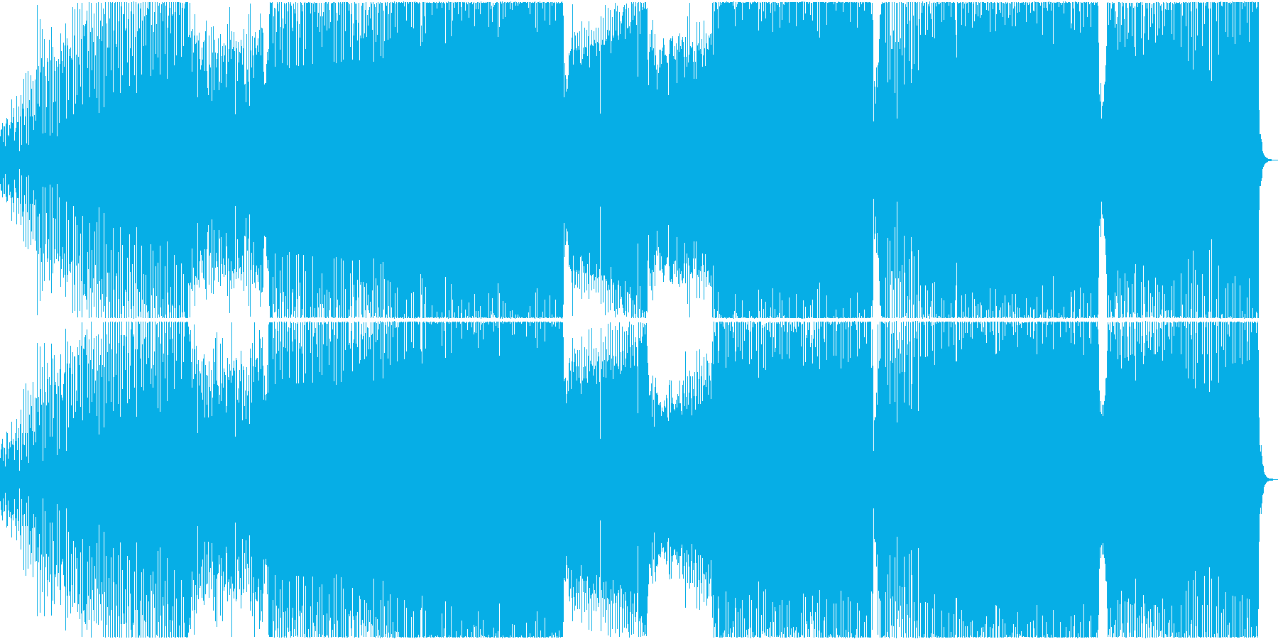 可憐でセクシーなEDMの再生済みの波形