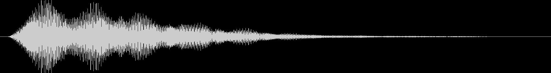 サウンドロゴ風プッシュボタンの未再生の波形
