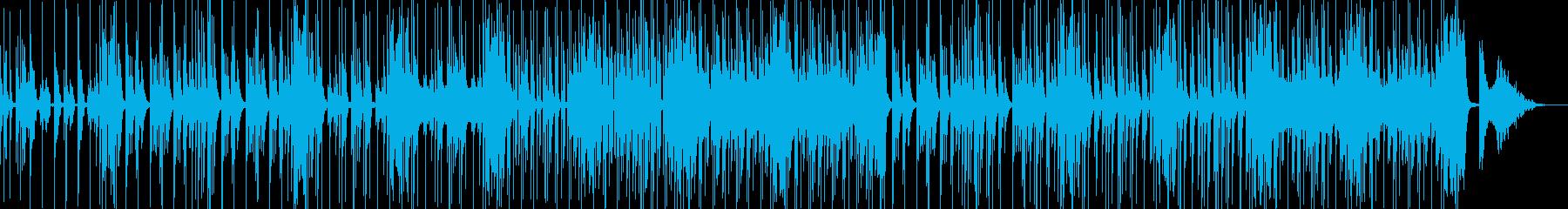コメディに適した滑稽なBGMの再生済みの波形