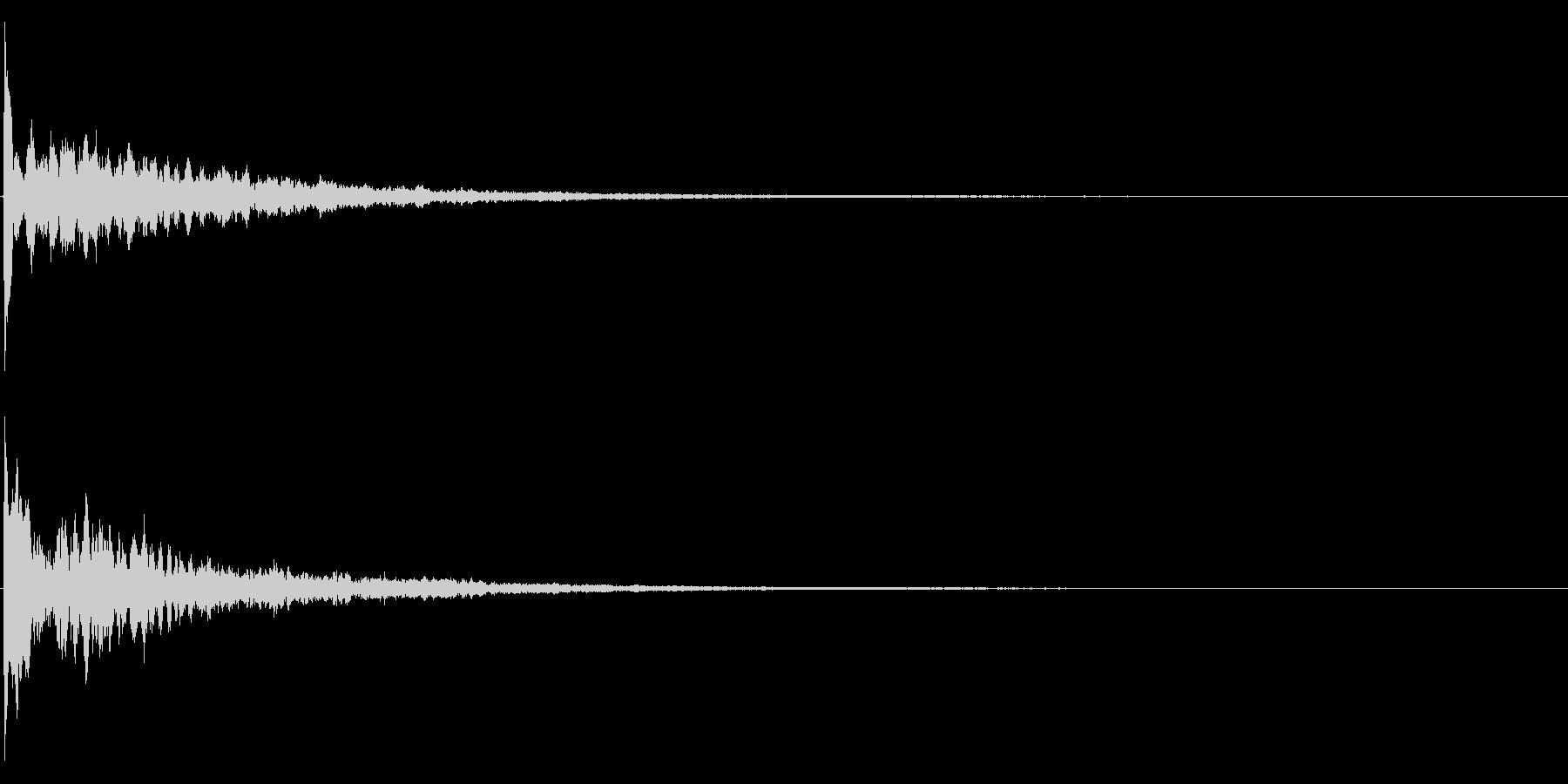 ゲームスタート、決定、ボタン音-135の未再生の波形