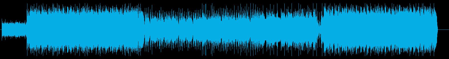 疾走感のあるエモなロックの再生済みの波形