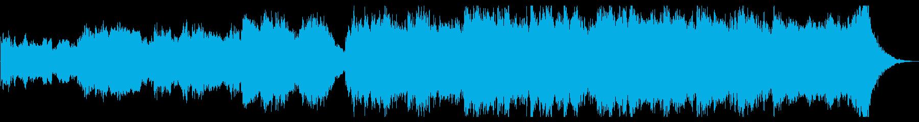 宇宙映画的オーケストラファンファーレの再生済みの波形