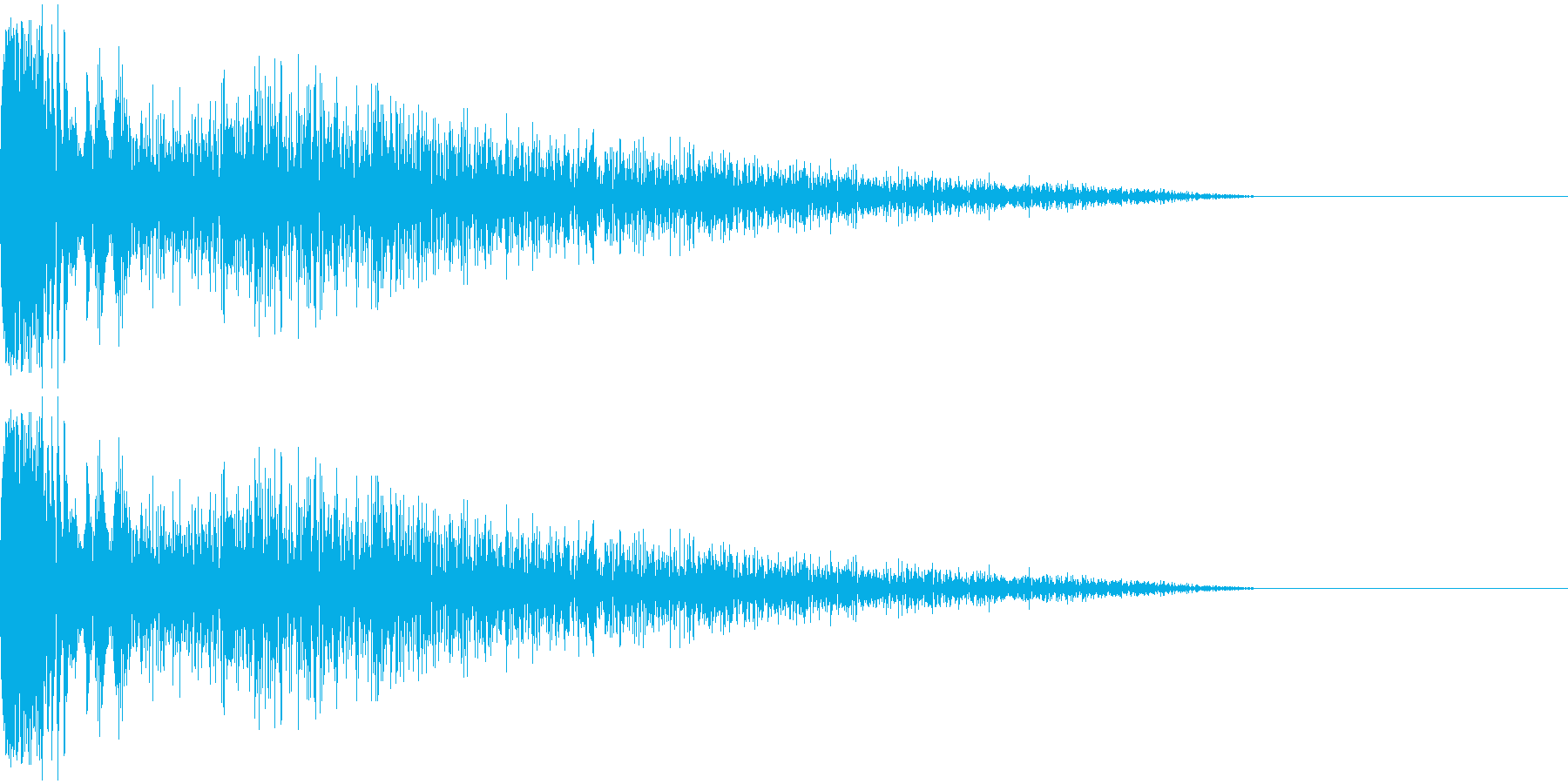 DTM Snare 4 オリジナル音源の再生済みの波形