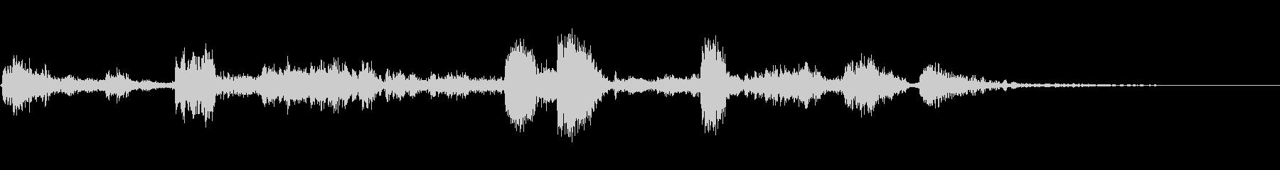 カークラッシュアンドロール3の未再生の波形