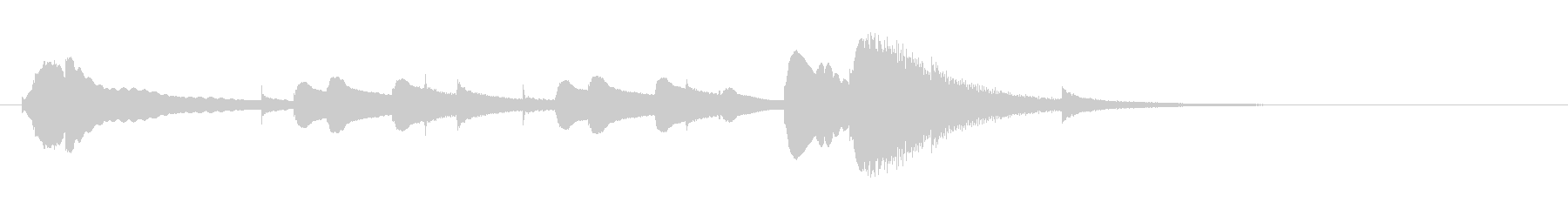 オルゴールジングル ドビュッシーの未再生の波形