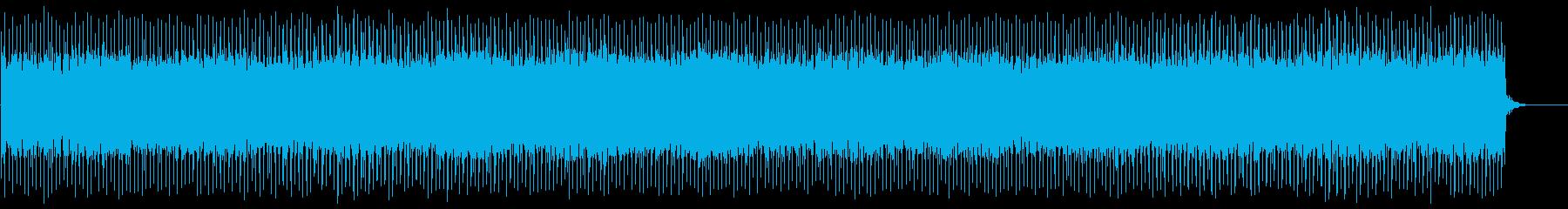 テクノっぽいニュース的なBGMの再生済みの波形