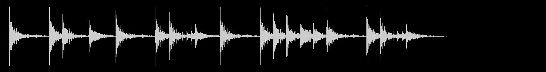 定番のリズム ドッチドド カラカカン#4の未再生の波形