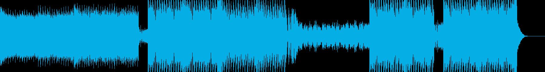 明るいテンションが高めのユーロビートの再生済みの波形