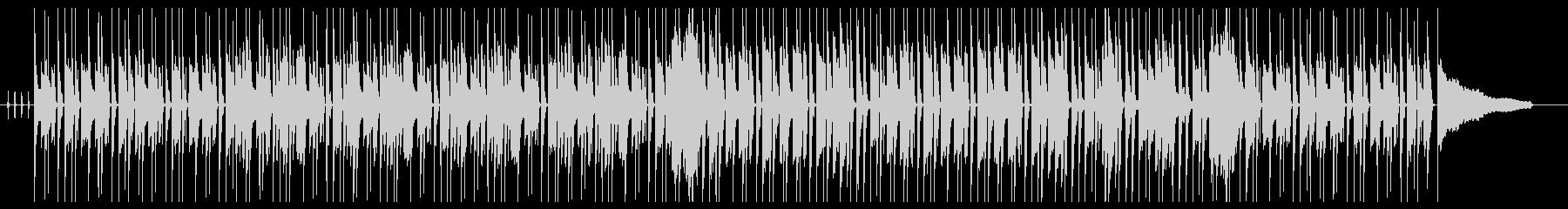 柔らかく暖かいエレピのボサノバ風の未再生の波形