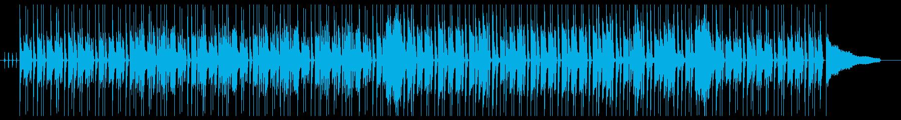 柔らかく暖かいエレピのボサノバ風の再生済みの波形