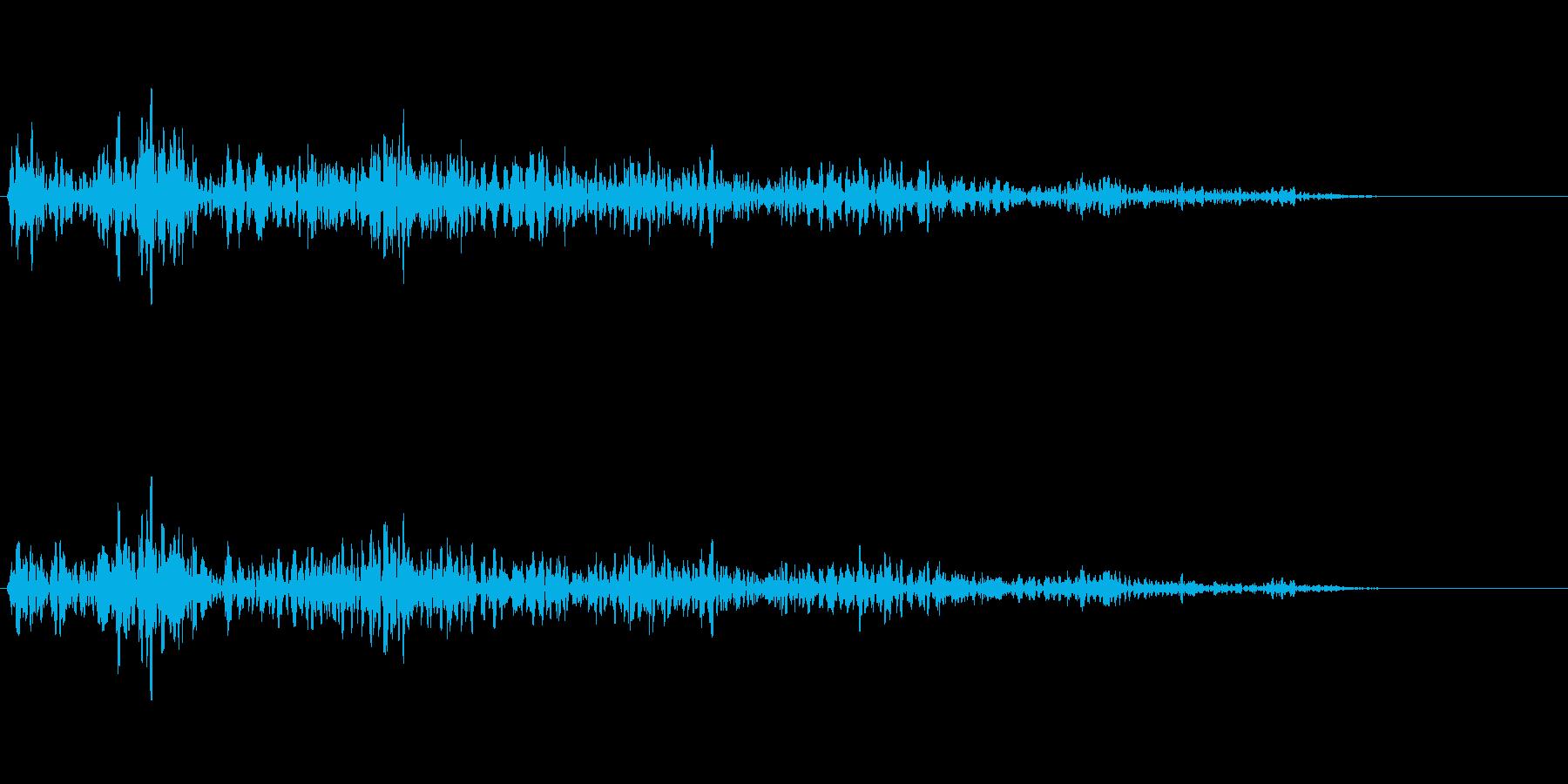 重い石を動かす音の再生済みの波形