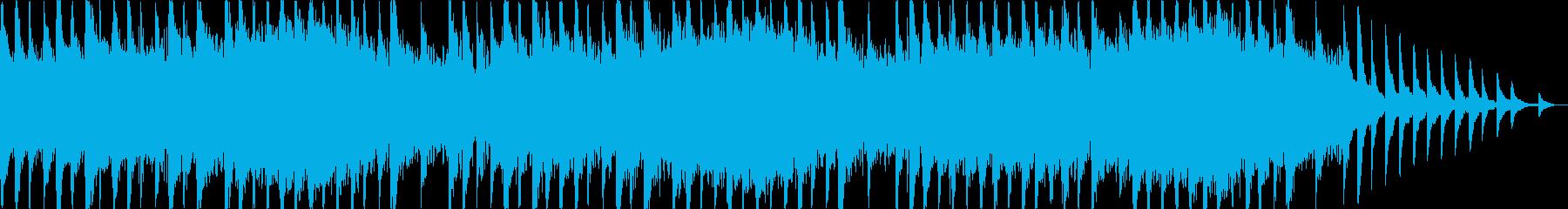 ピアノメインのホラー系BGMの再生済みの波形