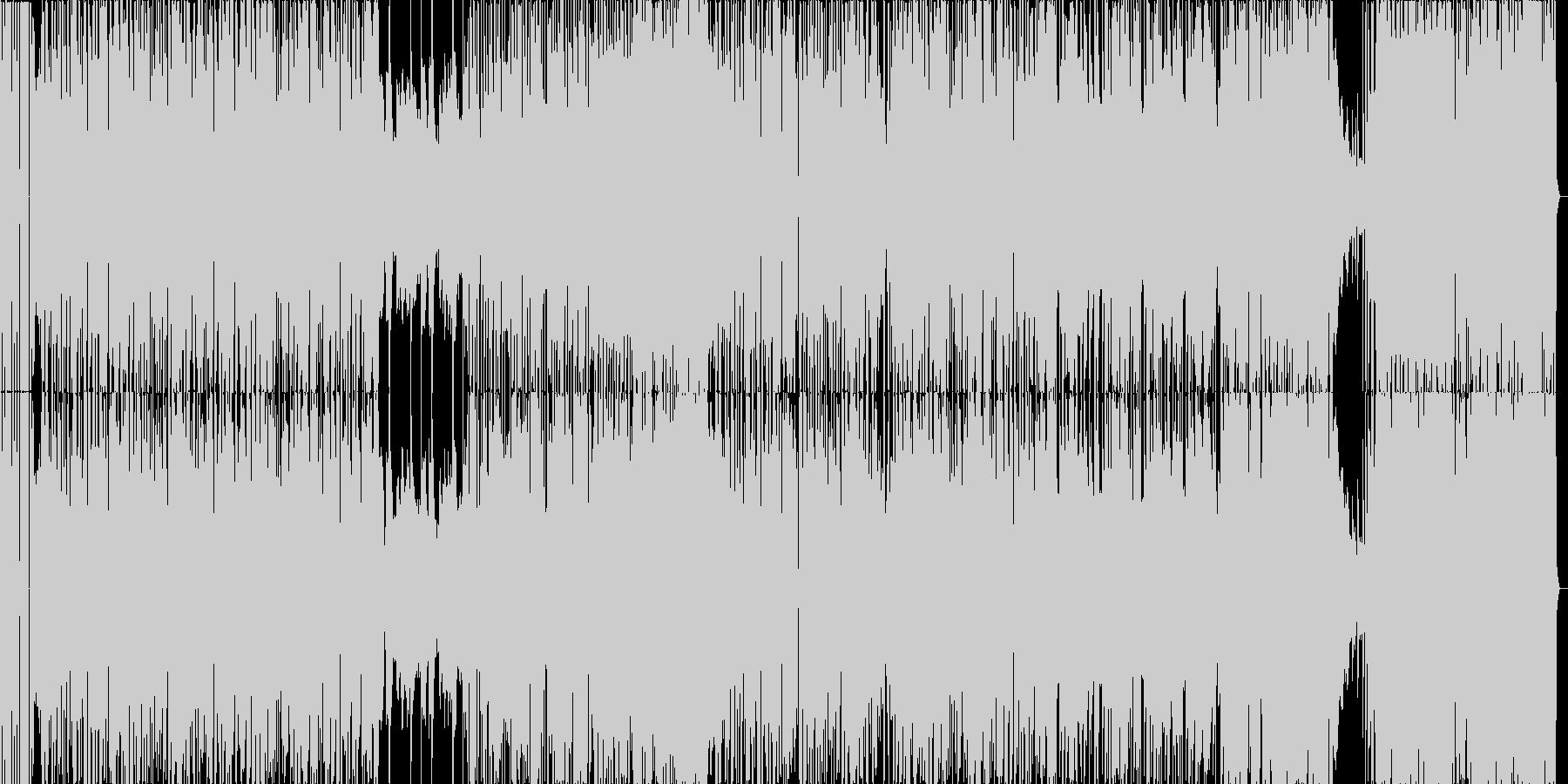 ジャズ+EDMの疾走感のあるBGMの未再生の波形