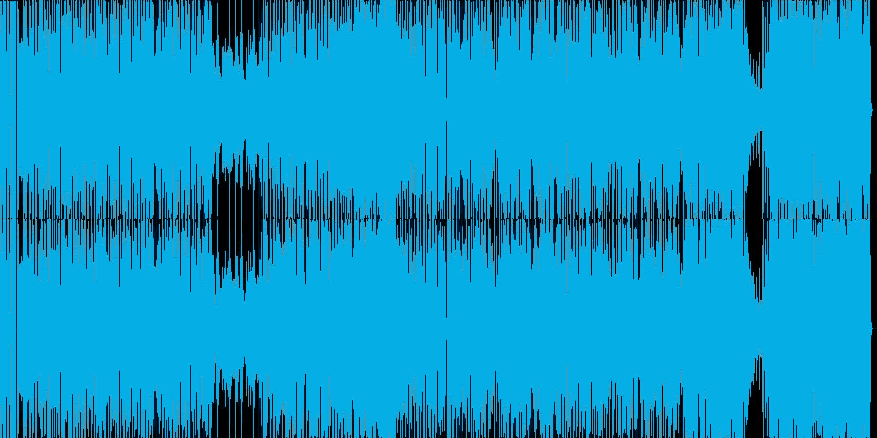 ジャズ+EDMの疾走感のあるBGMの再生済みの波形