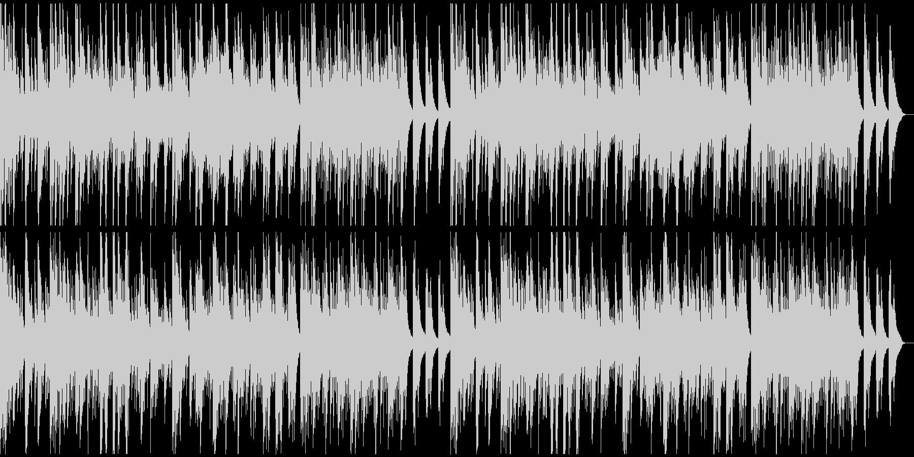彷徨うようなムードのソロ・ピアノの未再生の波形