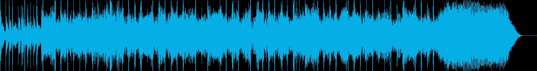 カッコいいハードロックのギターリフの再生済みの波形