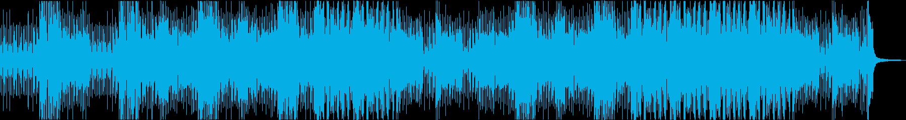 RPGの町に流れるにぎやかなケルト風曲の再生済みの波形