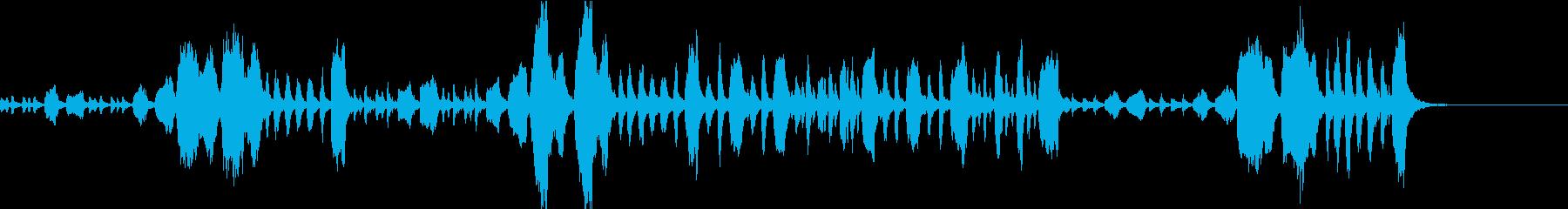 おどけた感じの短い曲ですの再生済みの波形