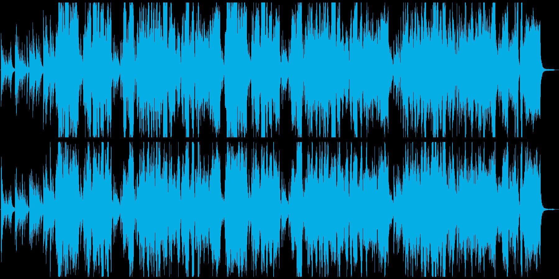映像に。独特な世界観ピアノとヴァイオリンの再生済みの波形