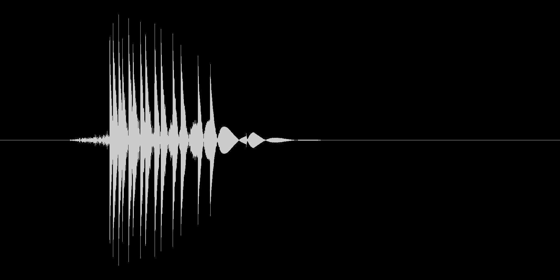 ゲーム(ファミコン風)ヒット音_015の未再生の波形