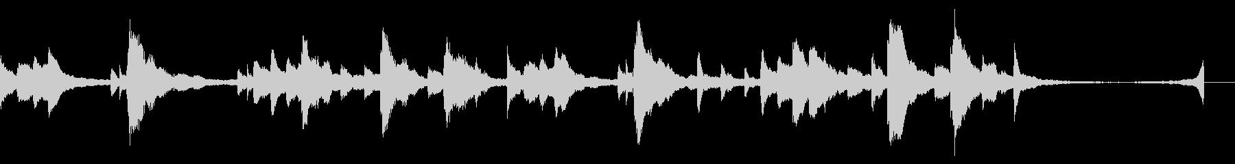 切なくて感動的なピアノソロジングルの未再生の波形