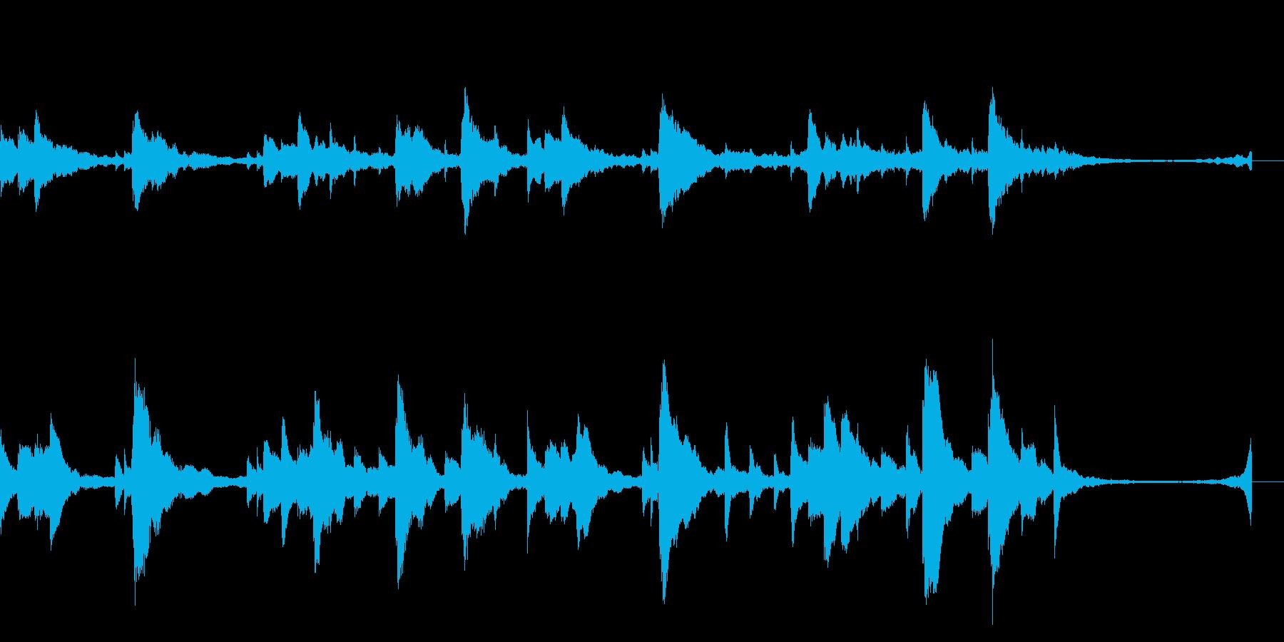 切なくて感動的なピアノソロジングルの再生済みの波形