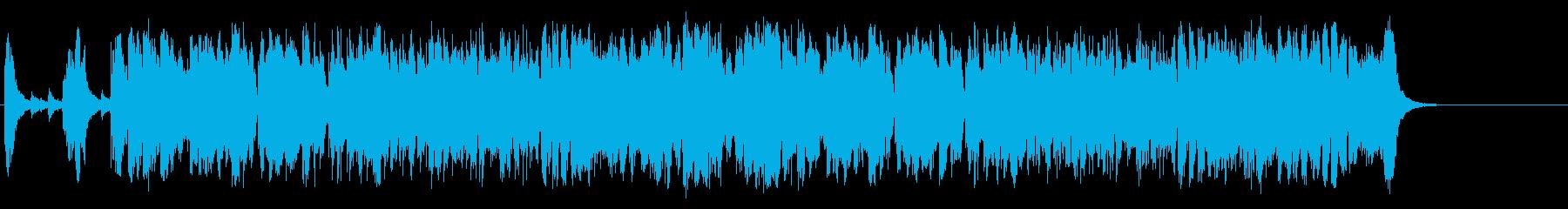 洋風捕物帖風マイナージャズポップの再生済みの波形