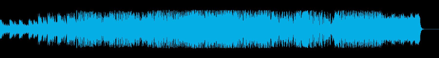 コスモスをイメージしたファンタジー曲の再生済みの波形