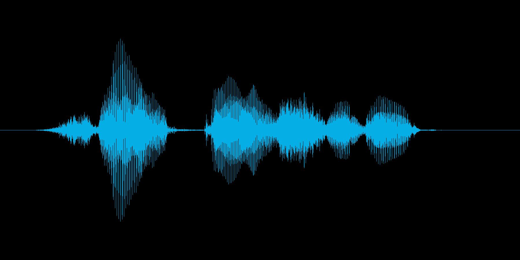 再開するの再生済みの波形