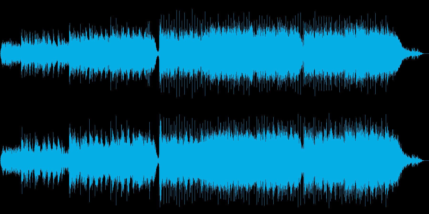 ロマンチックなウェディングピアノバラードの再生済みの波形
