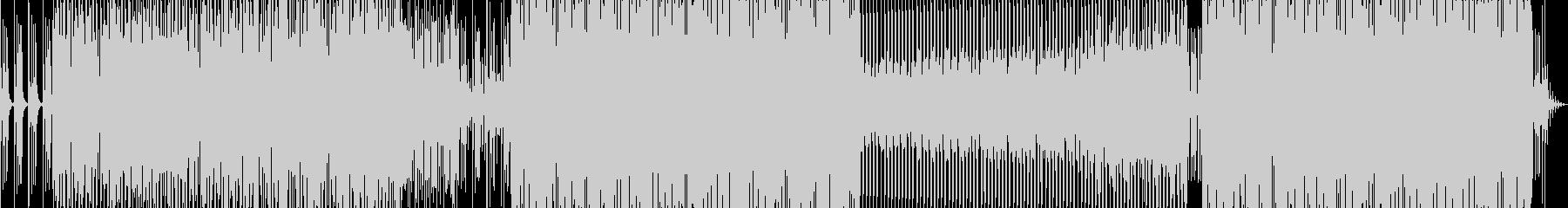 機械的でロボットをイメージさせるサウンドの未再生の波形