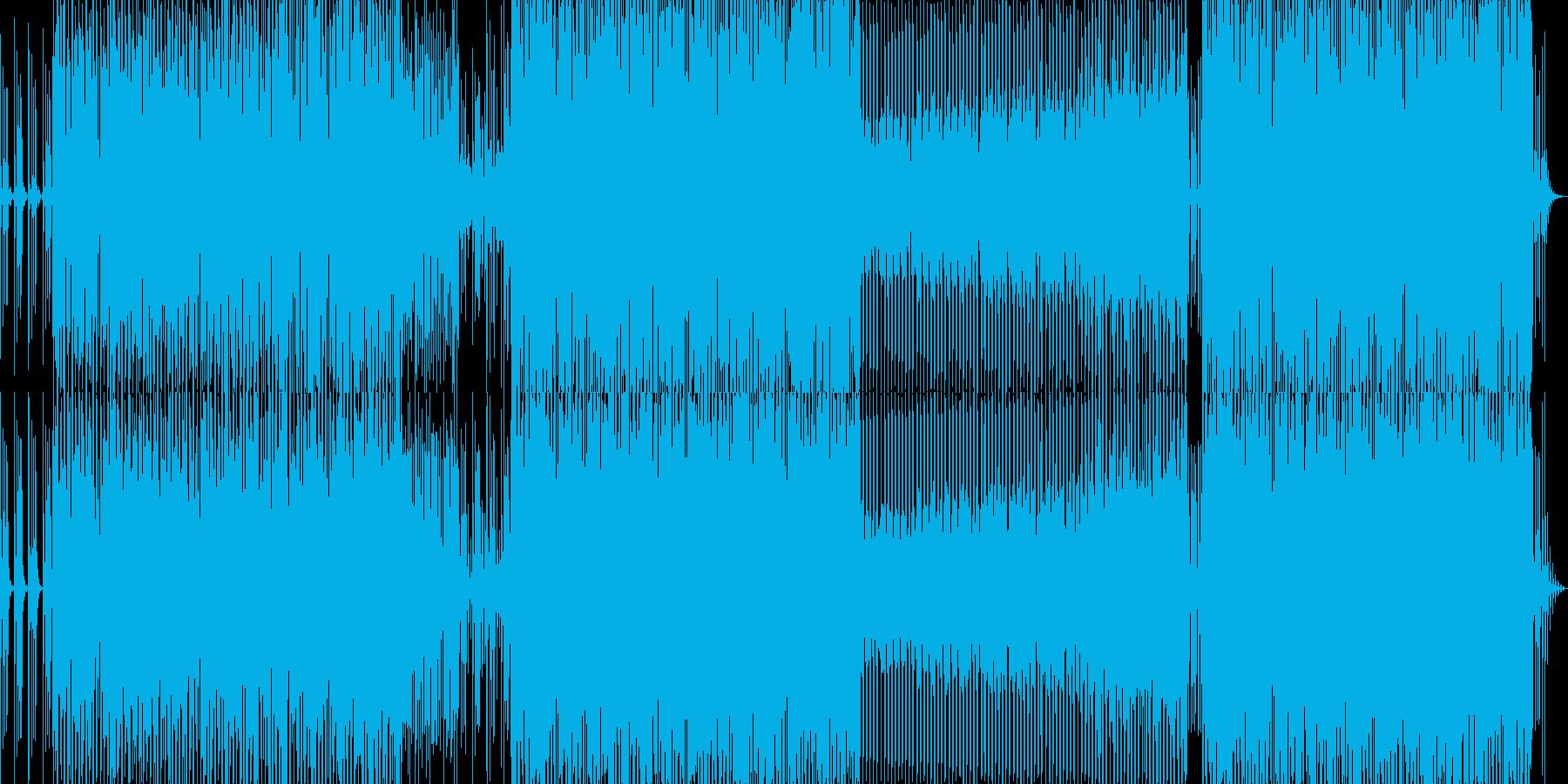 機械的でロボットをイメージさせるサウンドの再生済みの波形