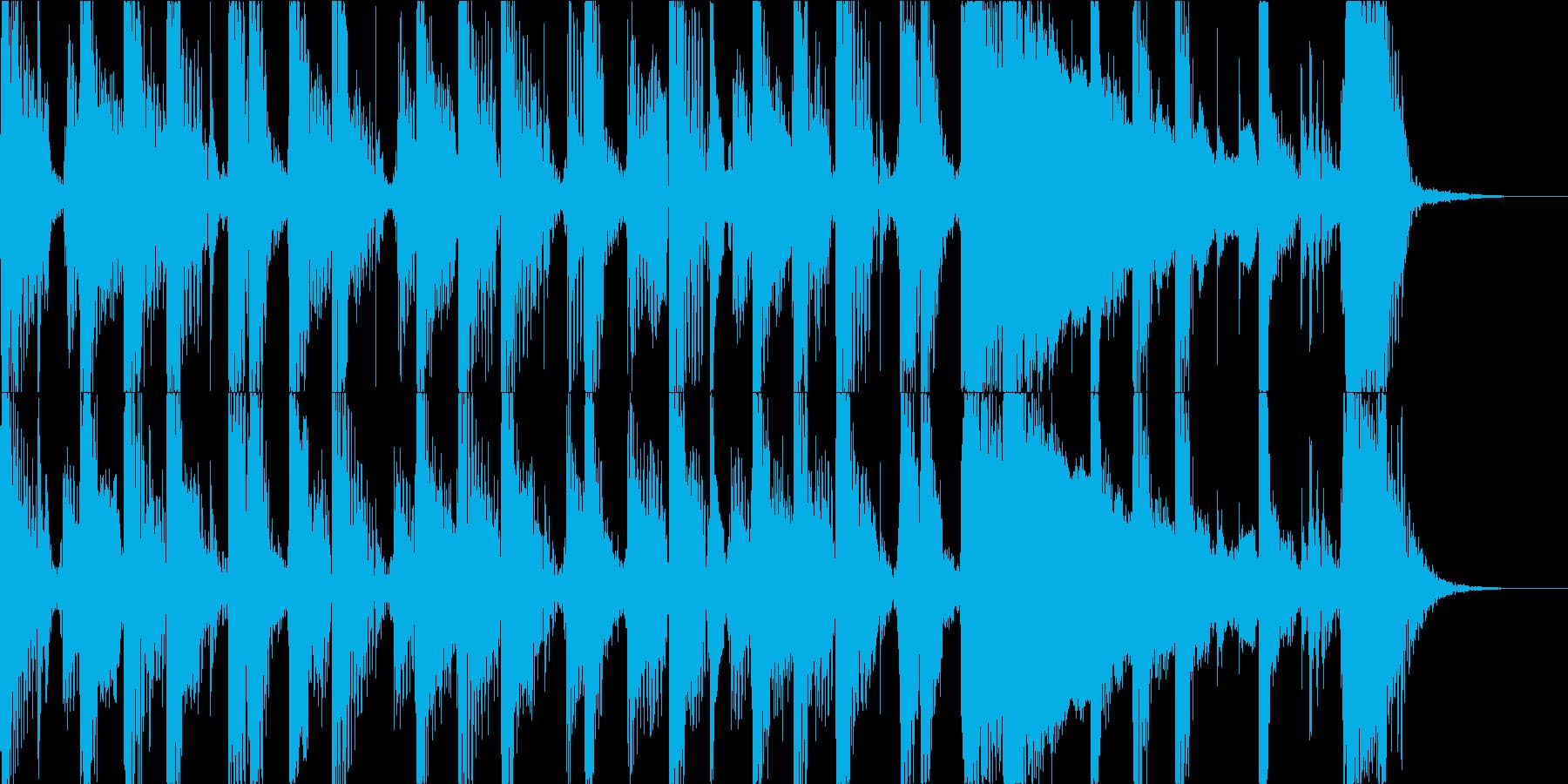ふわふわ感と少しふざけた楽しいジングルの再生済みの波形