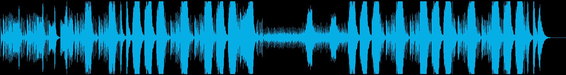 コミカルでちょっとホラーなBGMの再生済みの波形