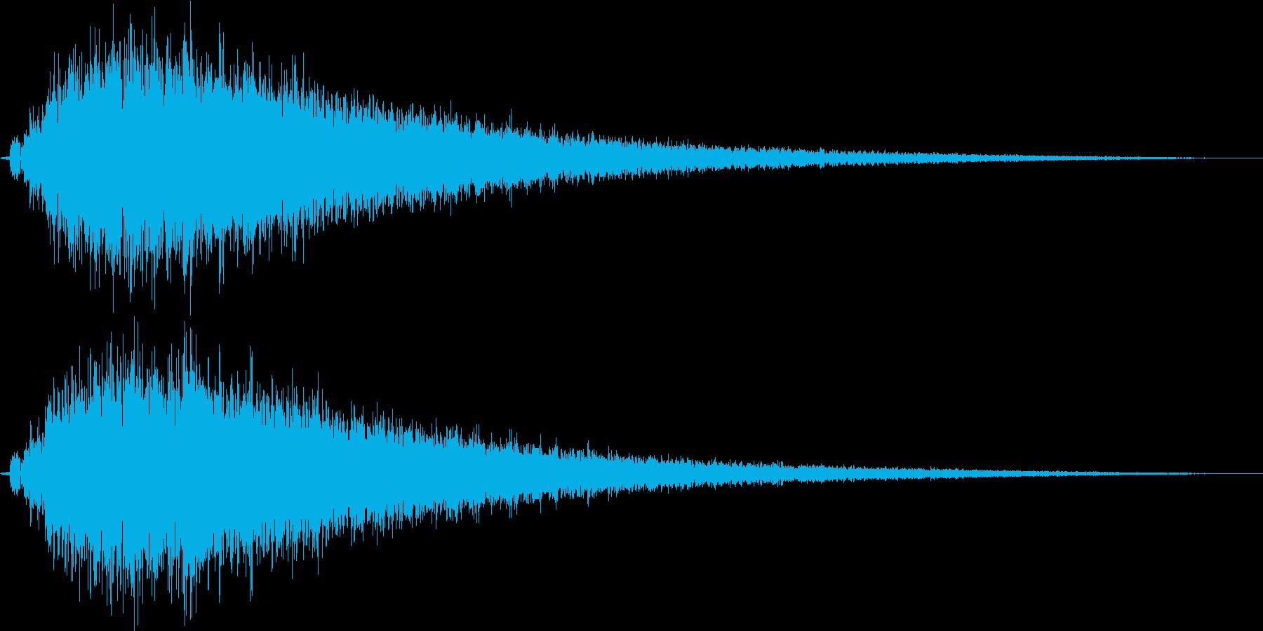 シャキーン_シンセ系のイメージ音の再生済みの波形