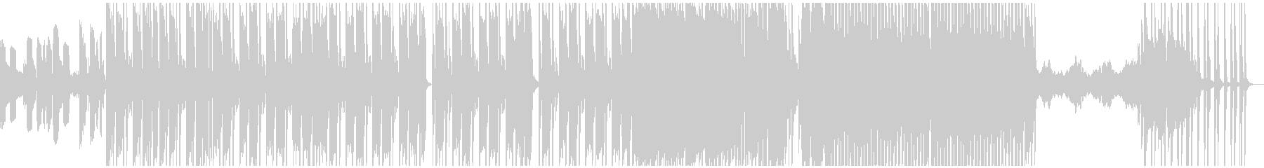 HIPHOP系BGMの未再生の波形