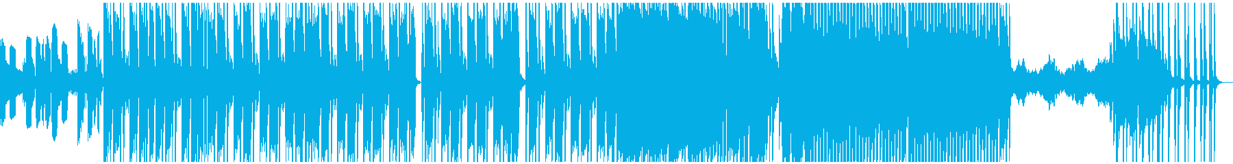 HIPHOP系BGMの再生済みの波形