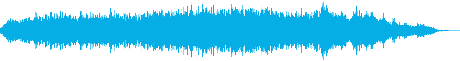 女性ボイスが徐々に重なりやがて昇天する曲の再生済みの波形