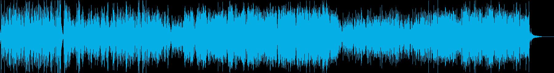 フォーキーなカントリー風BGMの再生済みの波形