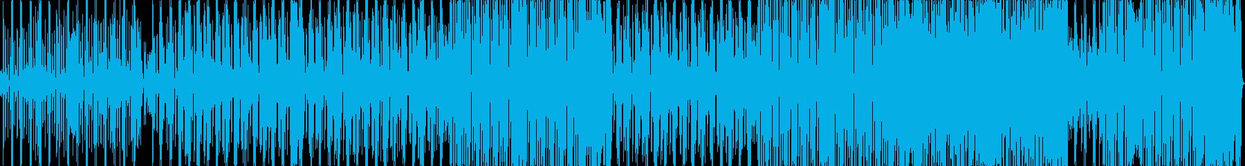 タンゴ風のテクノポップの再生済みの波形