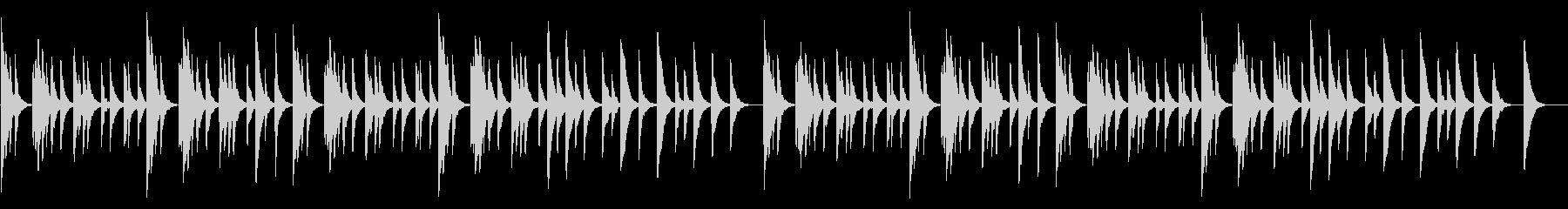 シリアス・不安なオルゴールの未再生の波形