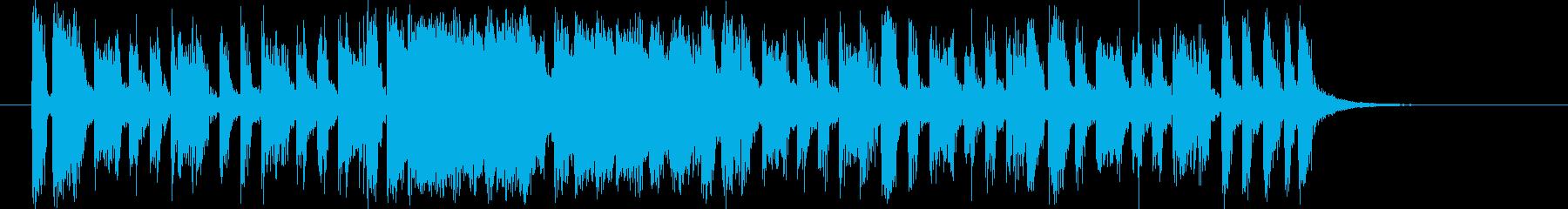 軽快なリズムのポップなバンドのジングルの再生済みの波形